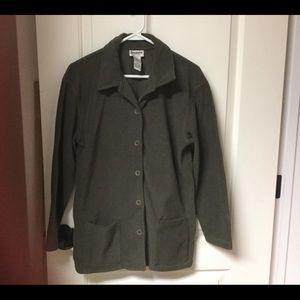 Sage Green Fleece Jacket/Top